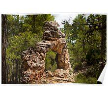 Barranco del Arco, Sierra de Gudar, Aragon, Spain Poster