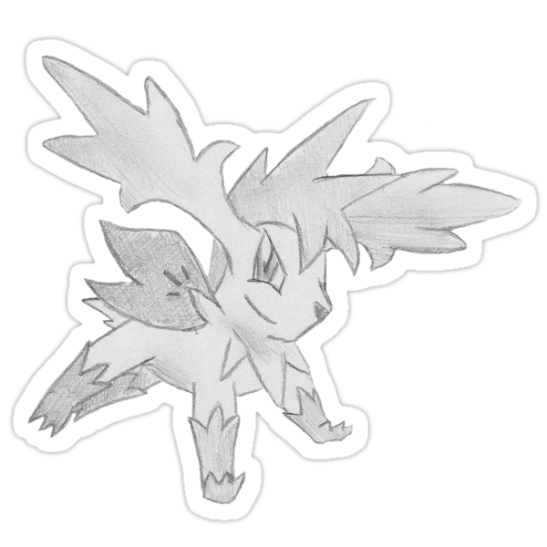 Shaymin Sky Forme - B&W by Derek Wheatley by eevilmurray