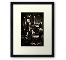 ''Little White Taxis'' Framed Print
