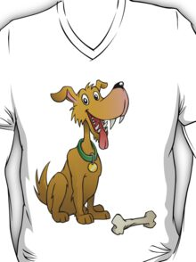 Cartoon dog with bone T-Shirt