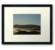 Morning Fog Layer Framed Print