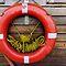 Eminönü SOS: a lifebuoy at the ferry dock