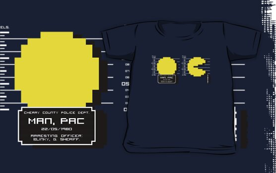 Pac Man Busted! -pixel version-  by R-evolution GFX