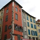 Coloured houses of Le Puy by rafstardesigns