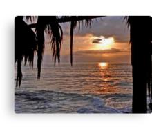 The Sun going down in California Canvas Print