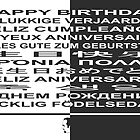 Happy Birthday! in many languages by AnnoNiem Anno1973