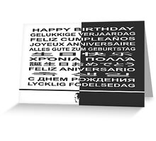 Happy Birthday! in many languages Greeting Card
