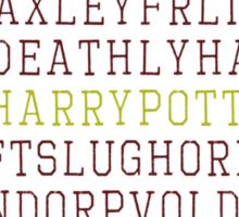 Harry Potter Wordsearch Sticker