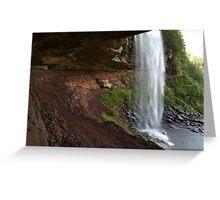 Waterfalls at summer time in Catskills, NY  Greeting Card