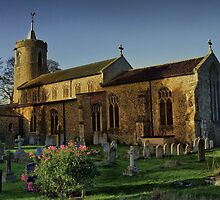 St Mary Long Stratton Late Light by Darren Burroughs