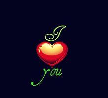 I Love You (black) by Saif Zahid