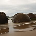 Moeraki Boulders by Mark Bird