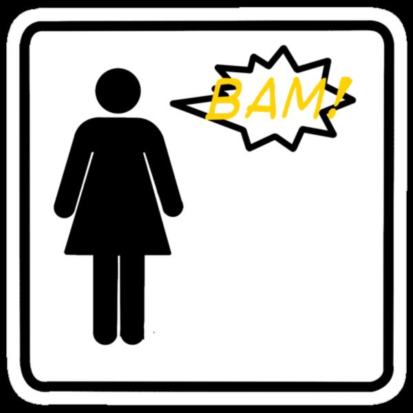 Bam! Said The Lady- Black by Stixanimated