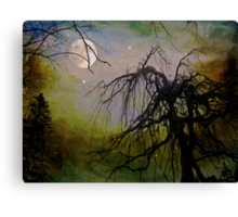 By The Light of The Silvery Moon II  Canvas Print
