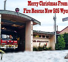 Merry Christmas from Fire Rescue Nsw 505 Wyong by rossco