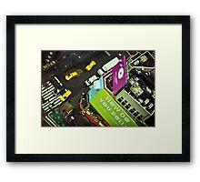 ''Manhattan Rain'' Framed Print