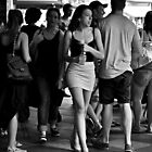 charging through the crowd by Karen E Camilleri