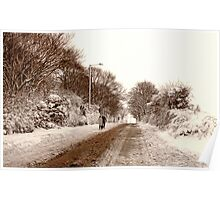 Ormskirk - Snow Poster