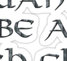 High Elves Text Only Sticker
