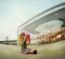 Acroyoga Practice at Brooklyn, New York by Wari Om  Yoga Photography