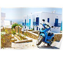 Streets of Mykonos Poster