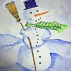 Christmas Snowman by Debbie  Adams