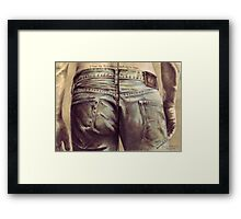 I hope my bum doesn't look big in these... Framed Print