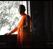Buddhist Monk in Pai by Dev Singh