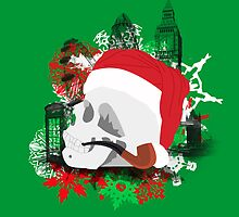 Skull Christmas - Green by KitsuneDesigns