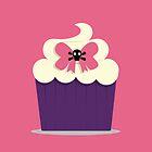 Skull & Bow Cupcake by elizabethboland