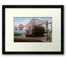 Scammell 8 at the Forth Bridge Framed Print