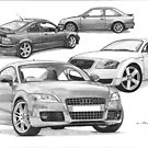 AUDI TT, Rover 220 Coupe Turbo, Escort Mk4 RS Turbo by Steve Pearcy