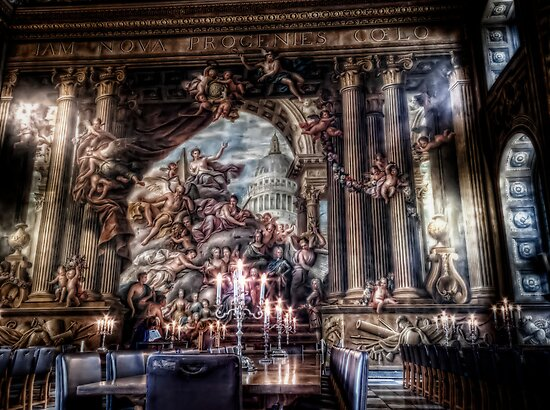 The West Wall of the Painted Hall by Alan E Taylor
