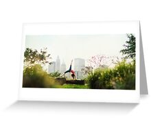 Yoga asana in the Park, New York Greeting Card