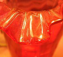 EDGY Red Glass by WildestArt