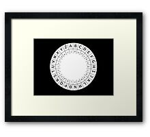 The One (Decoder) Ring Framed Print