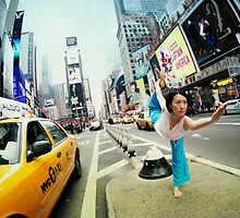 Yoga at Times Square, Manhattan, New York by Wari Om  Yoga Photography