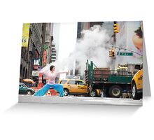 Yoga in Manhattan, New York Greeting Card