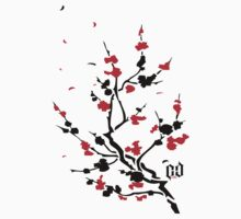CHERRY BLOSSOMS RED by Create or Die Designs
