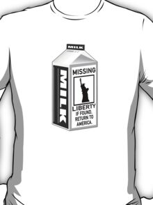 Missing Liberty Milk Carton T-Shirt