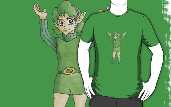 Legend of Zelda Sages - Saria, Sage of Forest by eevilmurray