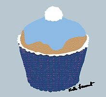 Blue cupcake by kreativekate