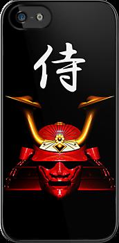 Red Kabuto (Samurai helmet) iPhone / iPod case by Steve Crompton