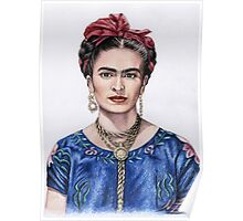 Hommage to Frida Kahlo Poster