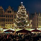 Christmas at the Grote Markt - Brussels - Belgium by Arie Koene