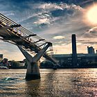 Millennium Bridge, London by Abtin Eshraghi