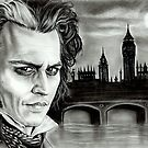 Sweeney Todd (Johnny Depp)  by Emily Hitchcock