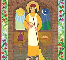 St. Martha Icon by David Raber