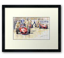 Monaco GP 1961 Ferrari 156 Sharknose Framed Print