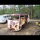Wrecked Splitty Ute with Bay VW by Bami